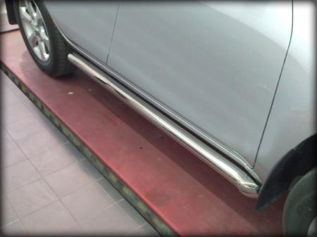 Toyota Rav-4 2010-2012г.в.-Пороги d-76 с загибом